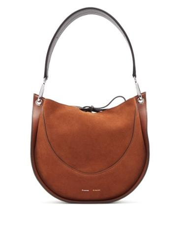 Matchesfashion.com Proenza Schouler - Hobo Small Suede And Leather Shoulder Bag - Womens - Brown