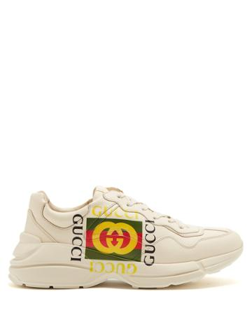 Gucci Gara Logo-print Low-top Leather Trainers
