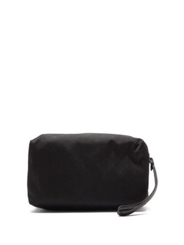 Matchesfashion.com Bottega Veneta - Jacquard Wash Bag - Mens - Black Silver