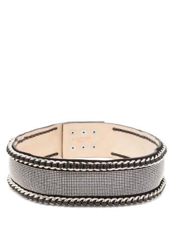 Balmain Chain And Strass-embellished Waist Belt