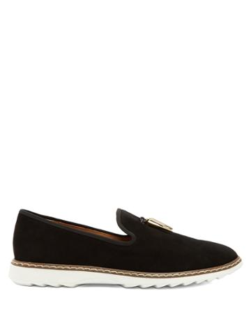 Giuseppe Zanotti Stew Shark-tooth Brushed-leather Loafers
