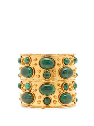 Matchesfashion.com Sylvia Toledano - Malachite Embellished Cuff Bracelet - Womens - Green
