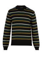 Prada Striped Virgin-wool Sweater