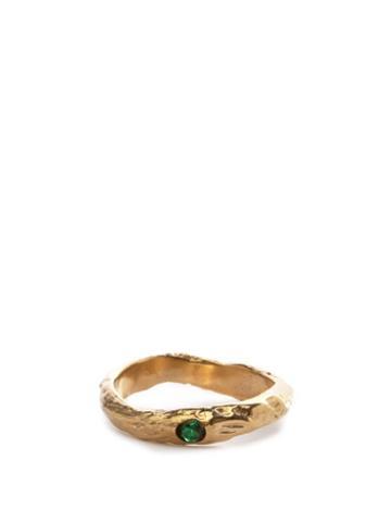 Matchesfashion.com Anita Berisha - May Birthstone & 14kt Gold-plated Ring - Womens - Green