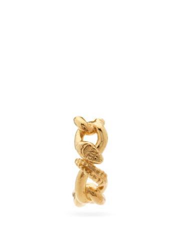 Matchesfashion.com Alan Crocetti - Nashash Gold-vermeil Snake Single Earring - Mens - Gold