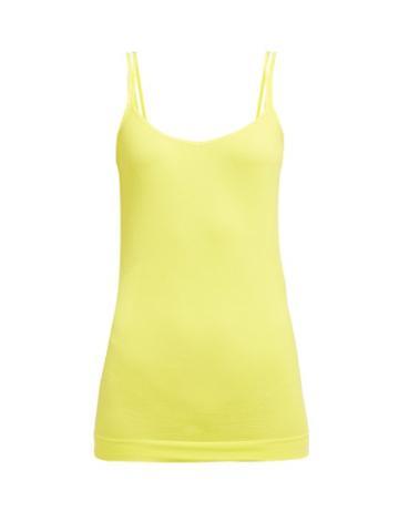 Matchesfashion.com Falke - Cooling Technical Jersey Tank Top - Womens - Yellow