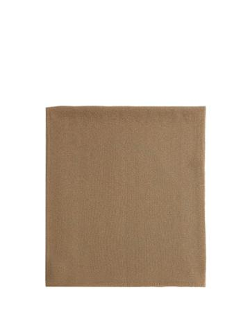 Matchesfashion.com Joseph - Ribbed-edge Metallic Square Scarf - Womens - Ivory