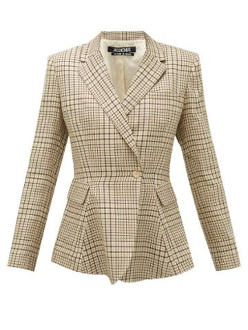 Matchesfashion.com Jacquemus - Qui Vole Single-breasted Twill Blazer - Womens - Green Multi