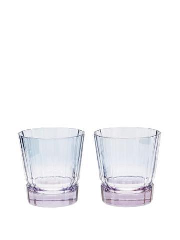 Matchesfashion.com Luisa Beccaria - Set Of Two Duccio Gradient Tumbler Glasses - Blue Multi