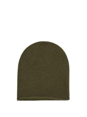 Matchesfashion.com Johnstons Of Elgin - Cashmere Beanie Hat - Womens - Dark Green