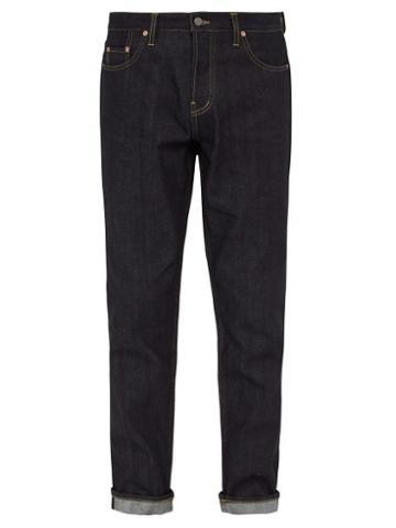Matchesfashion.com Raey - Raw Selvedge Denim Slim Leg Jeans - Mens - Indigo