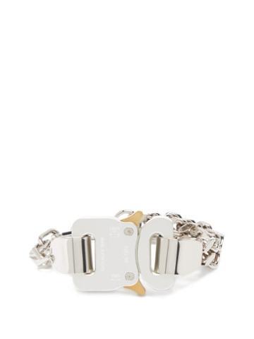 Matchesfashion.com 1017 Alyx 9sm - Triple Cubix Rollercoaster-buckle Bracelet - Mens - Silver