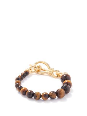 Missoma - Tiger's Eye & 18kt Gold-plated Bracelet - Womens - Brown Gold