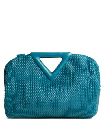 Matchesfashion.com Bottega Veneta - The Triangle Frame Quilted-leather Clutch Bag - Womens - Dark Green