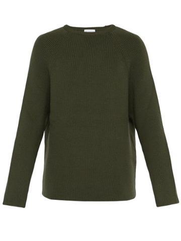 Matchesfashion.com Raey - Crew Neck Merino Wool Sweater - Mens - Khaki
