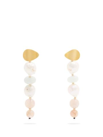 Lizzie Fortunato Pastel Column Bead-drop Earrings