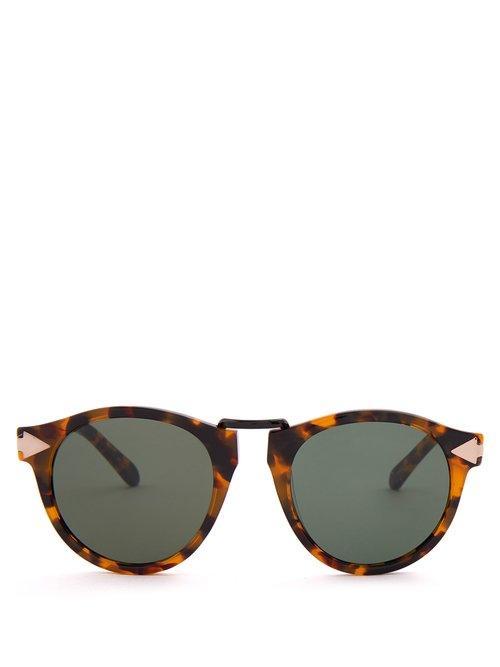 Matchesfashion.com Karen Walker Eyewear - Helter Skelter Sunglasses - Womens - Tortoiseshell