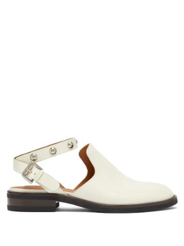 Matchesfashion.com See By Chlo - Studded Backless Leather Loafers - Womens - Ivory