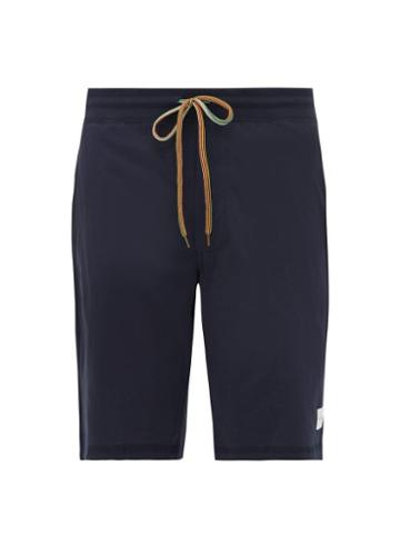Matchesfashion.com Paul Smith - Striped Drawstring Cotton Jersey Pyjama Shorts - Mens - Navy