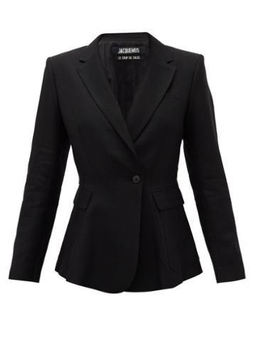 Matchesfashion.com Jacquemus - Qui Vole Single-breasted Slubbed Blazer - Womens - Black