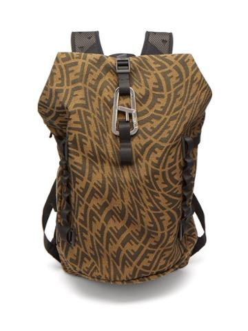 Mens Bags Fendi - Ferrino Logo-jacquard Canvas Backpack - Mens - Brown Multi