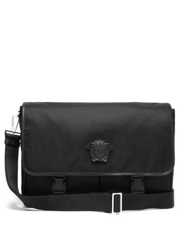 Mens Bags Versace - Medusa-plaque Technical Messenger Bag - Mens - Black