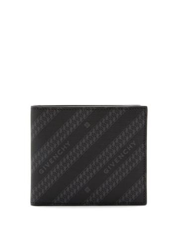 Matchesfashion.com Givenchy - Chain-print Coated-canvas Bi-fold Wallet - Mens - Black