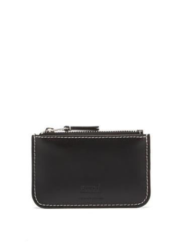 Matchesfashion.com Ami - Logo-debossed Zipped Leather Cardholder - Mens - Black