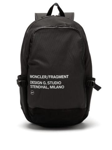 Matchesfashion.com 7 Moncler Fragment - Logo-print Shell Backpack - Mens - Black