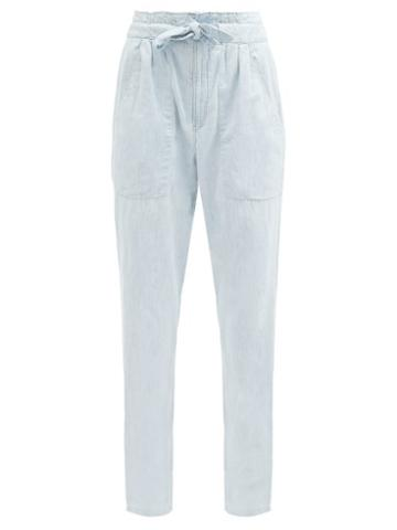 Matchesfashion.com Isabel Marant Toile - Corsysr High-rise Boyfriend Jeans - Womens - Blue