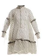 Cecilie Bahnsen Anne Fil-coup Ruffle-trimmed Silk-blend Dress