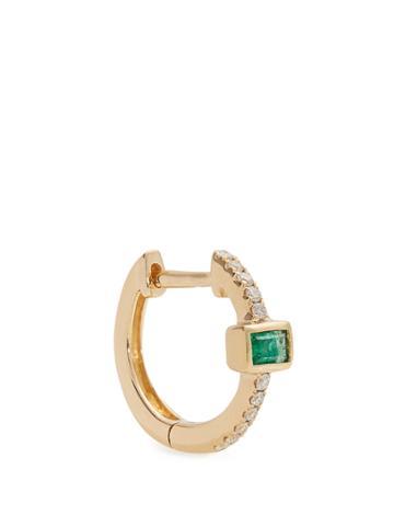 Jacquie Aiche Diamond, Emerald & Yellow-gold Earring