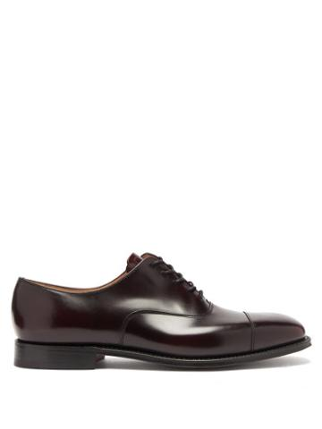 Matchesfashion.com Church's - Falmouth Square-toe Leather Oxford Shoes - Mens - Burgundy