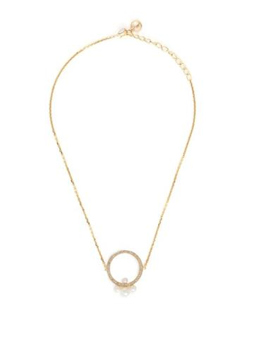 Matchesfashion.com Anissa Kermiche - Pompadour Diamond, Pearl & Yellow Gold Choker - Womens - Gold