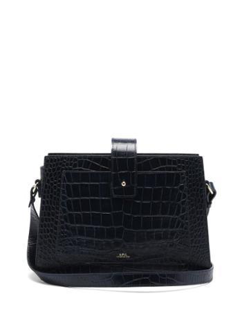 Matchesfashion.com A.p.c. - Albane Crocodile-effect Leather Cross-body Bag - Womens - Navy