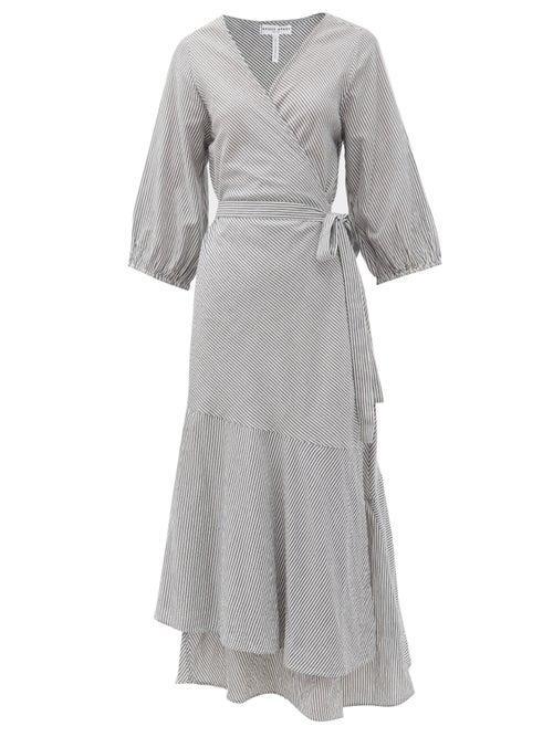 Matchesfashion.com Apiece Apart - Sierra Asymmetrical Organic-cotton Wrap Dress - Womens - Cream