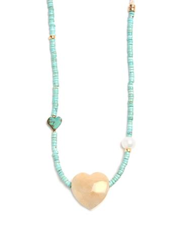 Lizzie Fortunato Gemini Heart-pendant Necklace