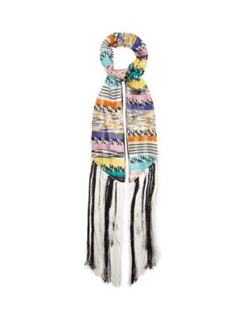 Matchesfashion.com Missoni - Fringed Stripe Scarf - Womens - Multi