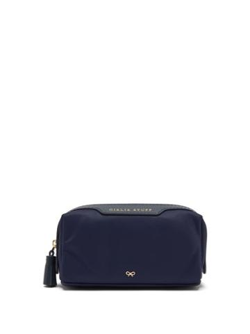 Ladies Accessories Anya Hindmarch - Girlie Stuff Recycled-canvas Make-up Bag - Womens - Navy