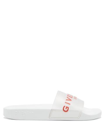 Matchesfashion.com Givenchy - Logo-embossed Rubber Slides - Womens - Clear