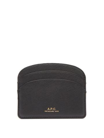 Matchesfashion.com A.p.c. - Half Moon Saffiano-leather Cardholder - Womens - Black