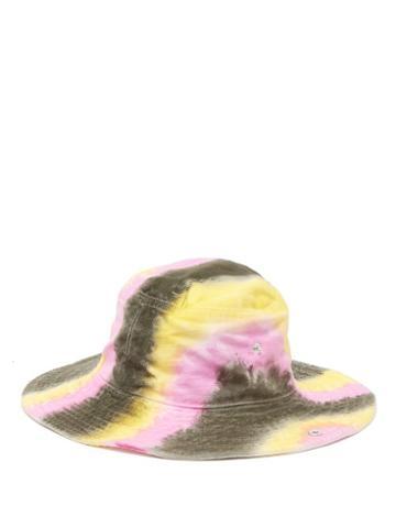 Matchesfashion.com Ganni - Shiloh Tie Dye Effect Cotton Bucket Hat - Womens - Multi