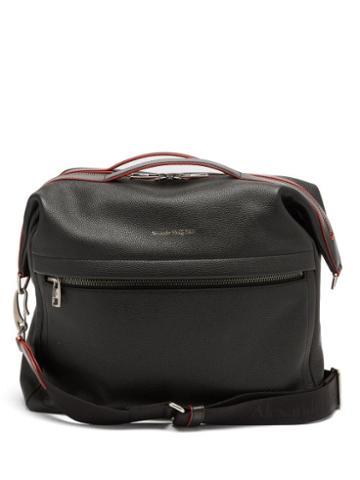 Matchesfashion.com Alexander Mcqueen - Logo-print Leather Messenger Bag - Mens - Black