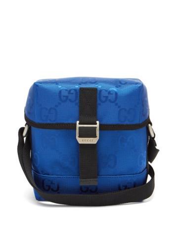 Matchesfashion.com Gucci - Off The Grid Gg-jacquard Messenger Bag - Mens - Blue