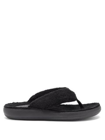 Ladies Shoes Ancient Greek Sandals - Charisma Terry Flip Flops - Womens - Black