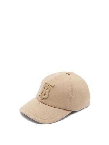 Matchesfashion.com Burberry - Logo-embroidered Cotton-jersey Baseball Cap - Womens - Beige