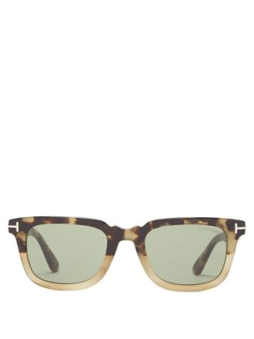 Matchesfashion.com Tom Ford Eyewear - Square Tortoiseshell-acetate Sunglasses - Mens - Tortoiseshell