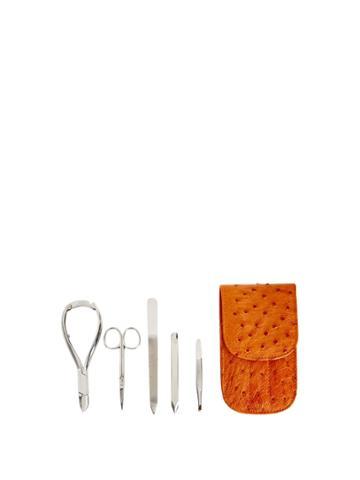 Lorenzi Milano Travelling Ostrich Manicure Set