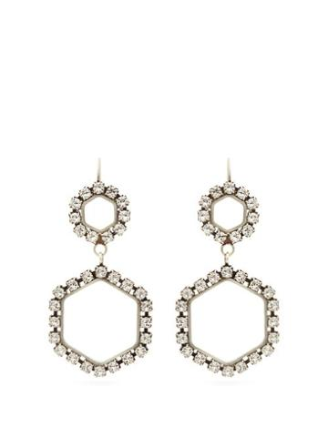 Matchesfashion.com Isabel Marant - Crystal Embellished Drop Earrings - Womens - Crystal