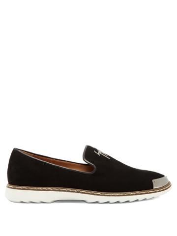 Giuseppe Zanotti Cedric Brushed-leather Loafers